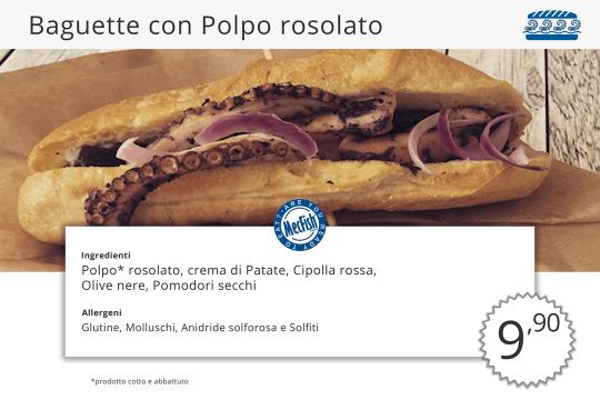 Baguette Polpo Rosolato MecFish Primo Fast Food di Pesce