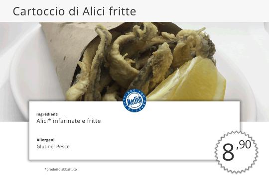 Cartoccio di Alici Fritte MecFish Primo Fast Food di Pesce