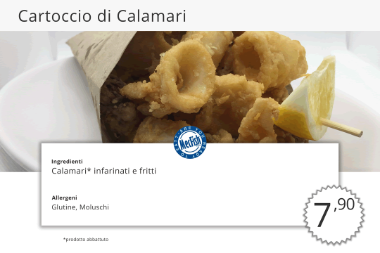 Cartoccio di Calamari MecFish Primo Fast Food di Pesce