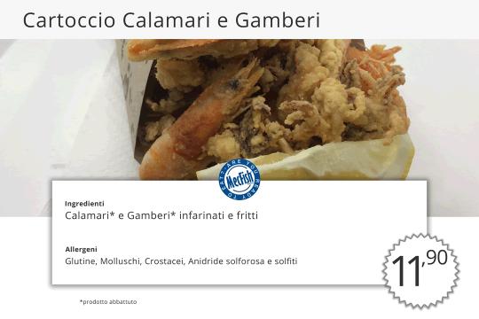 Cartoccio di Calamari e Gamberi MecFish Primo Fast Food di Pesce