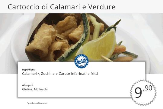 Cartoccio di Calamari e Verdure MecFish Primo Fast Food di Pesce