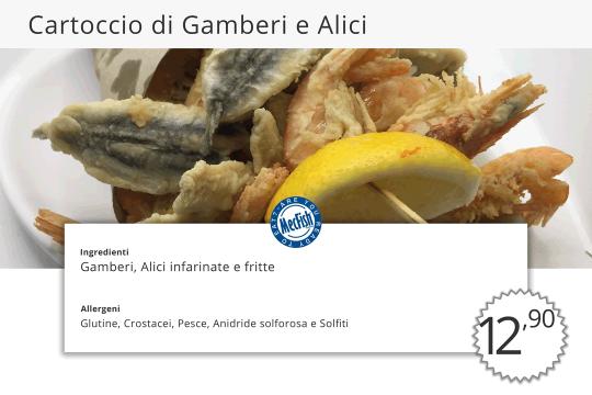 Cartoccio di Gamberi e Alici MecFish Primo Fast Food di Pesce