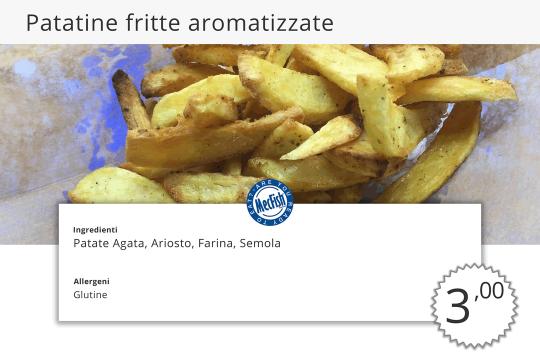 Patatine Fritte Aromatizzate MecFish Primo Fast Food di Pesce