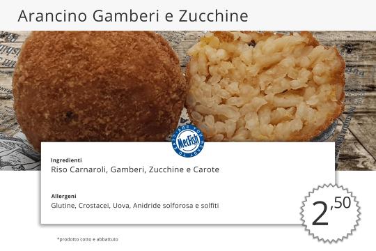 Arancino Gamberi e Zucchine MecFish Primo Fast Food di Pesce