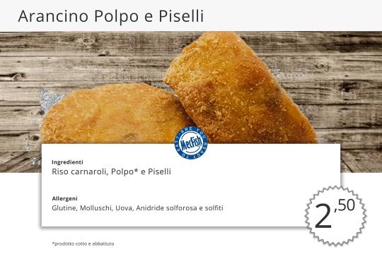 Arancino Polpo e Piselli MecFish Primo Fast Food di Pesce