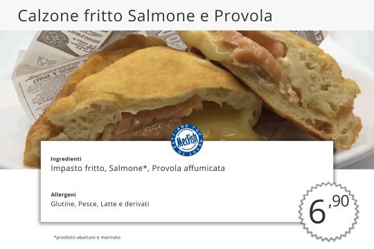 Calzone Fritto Salmone e Provola MecFish Primo Fast Food di Pesce