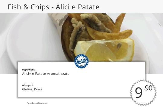 Fish Chips Alici e Patate MecFish Primo Fast Food di Pesce