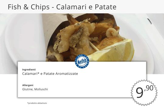 Fish Chips Calamari e Patate MecFish Primo Fast Food di Pesce