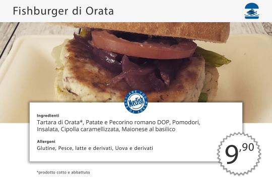 Fishburger Orata MecFish Primo Fast Food di Pesce
