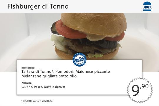 Fishburger di Tonno MecFish Primo Fast Food di Pesce