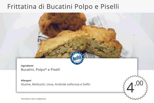 Frittatina Bucatini Polpo e Piselli MecFish Primo Fast Food di Pesce