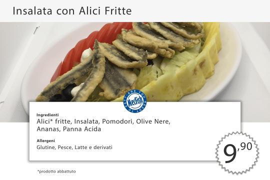 Insalata Alici Fritte MecFish Primo Fast Food di Pesce