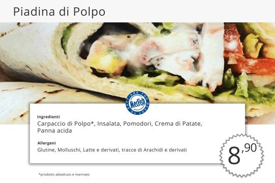 Piadina di Polpo MecFish Primo Fast Food di Pesce