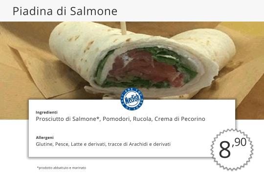 Piadina di Salmone MecFish Primo Fast Food di Pesce