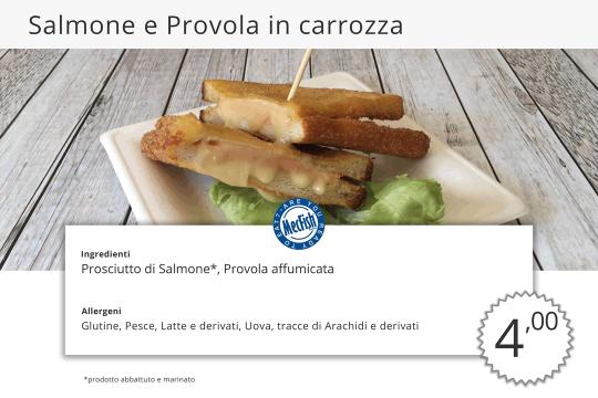 Salmone e Provola in Carrozza MecFish Primo Fast Food di Pesce